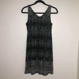 Athleta black & white jersey Santorini dress,  XS